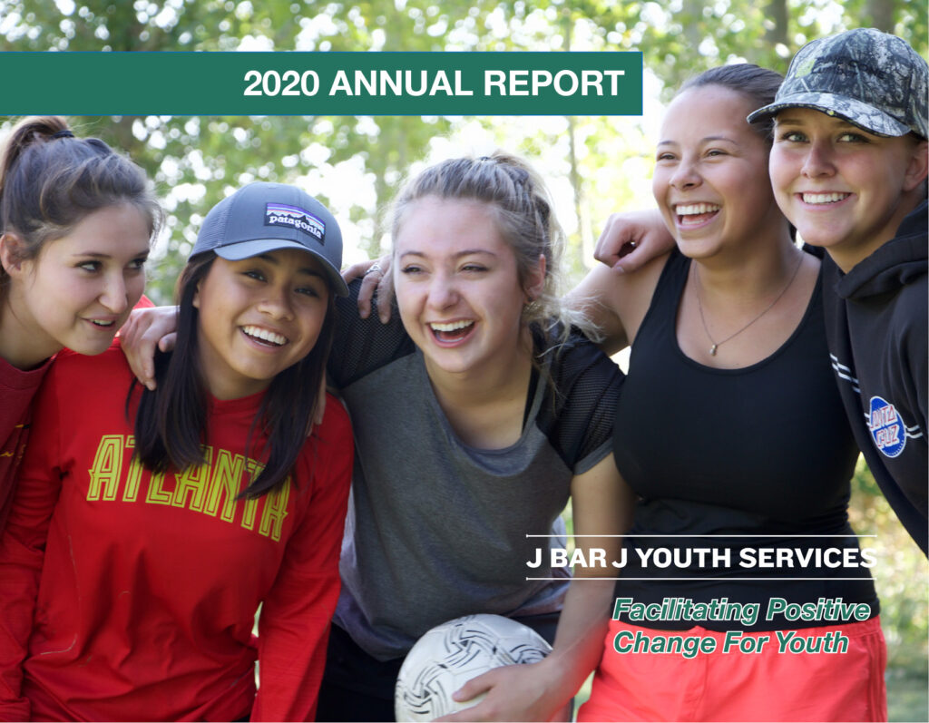 Annual Report Cover non- profit helping youth